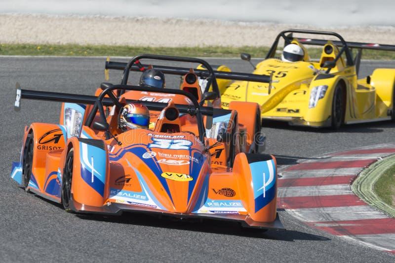 Chaufför Arlan Bourlain Mercure Racing Team royaltyfria bilder