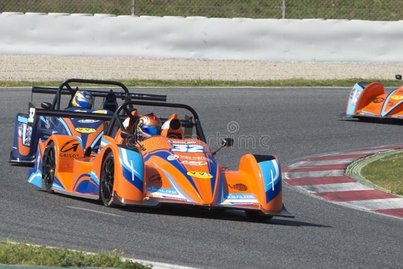 Chaufför Arlan Bourlain Mercure Racing Team royaltyfri bild