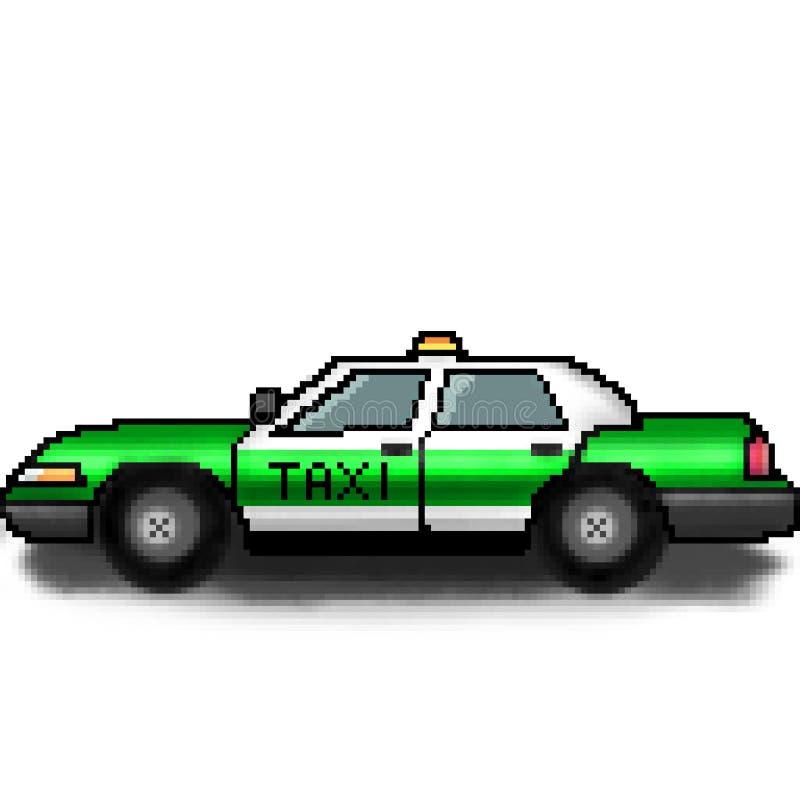 Chaufför för taxi för bit för PIXEL 8 utdragen för hyra royaltyfri illustrationer