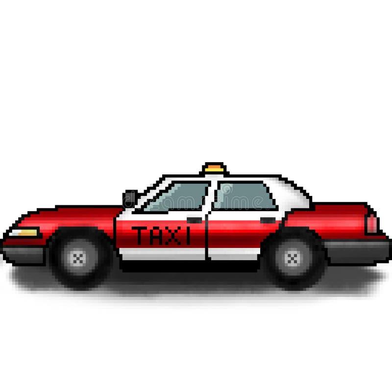 Chaufför för taxi för bit för PIXEL 8 utdragen för hyra stock illustrationer
