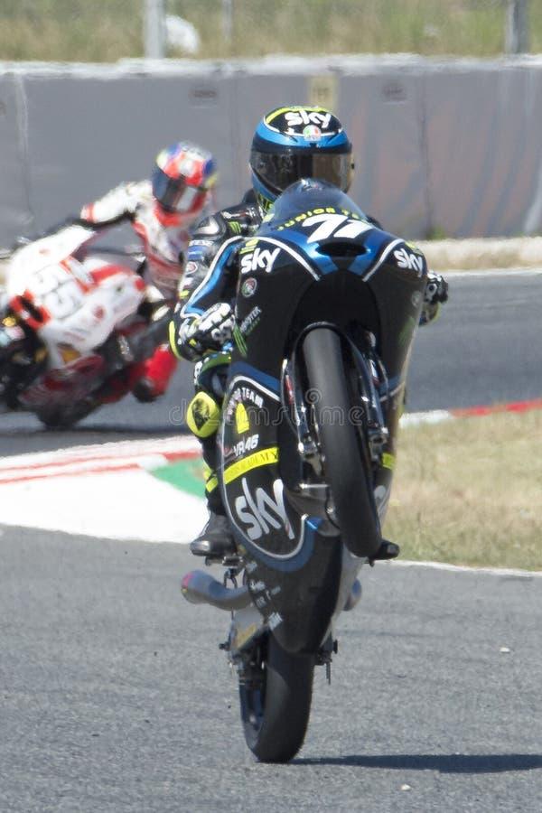 Chaufför Foggia, Dennis Moto3 Junior Team VR46 royaltyfri foto