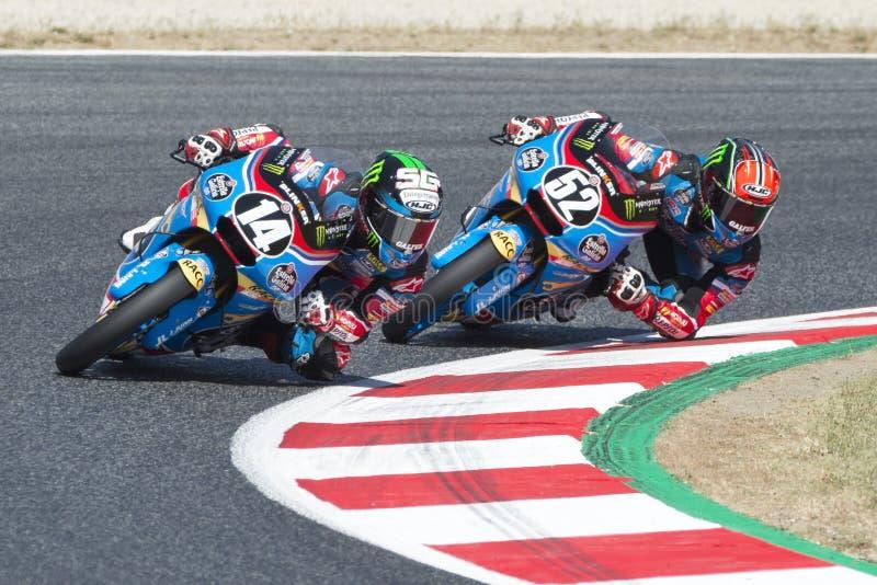 Chaufför Garcia Dols, Sergio Moto3 Junior Team Estrella Galicia royaltyfri foto