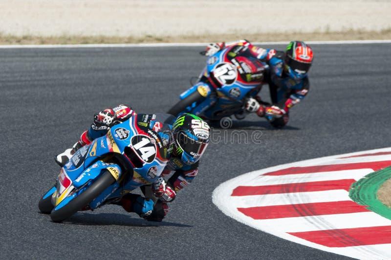 Chaufför Garcia Dols, Sergio Moto3 Junior Team Estrella Galicia arkivbild
