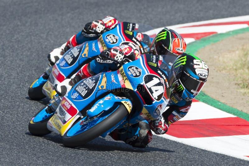 Chaufför Garcia Dols, Sergio Moto3 Junior Team Estrella Galicia royaltyfri bild