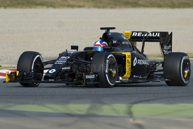 Chaufför Jolyon Palmer Team Renault Sport royaltyfria bilder