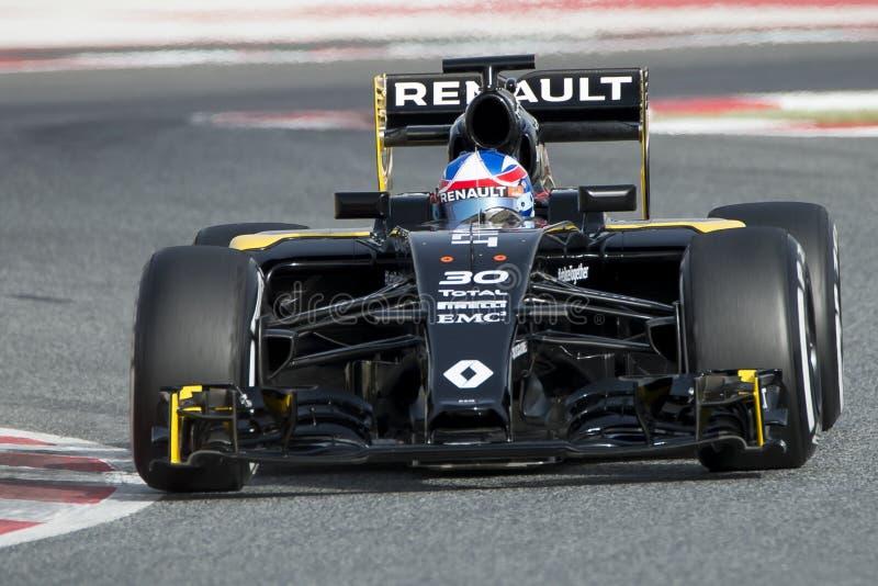 Chaufför Jolyon Palmer Team Renault Sport fotografering för bildbyråer
