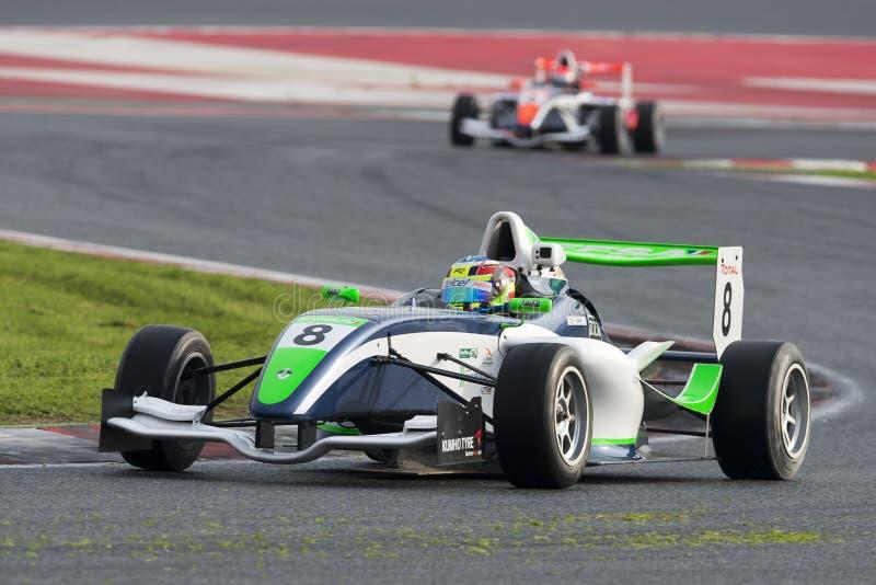 Chaufför Jose Sierra Championnat de Frankrike F4 royaltyfri bild