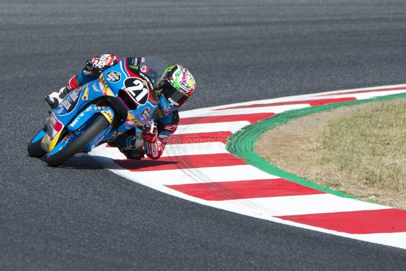 Chaufför Lopez Gonzalez, Alonso Moto3 Junior Team Estrella Galicia royaltyfria foton