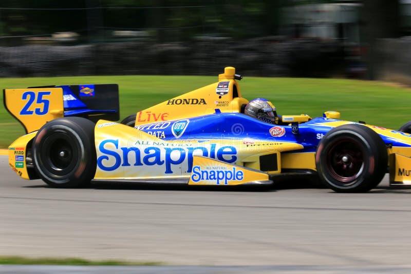 Chaufför Marco Andretti royaltyfria bilder