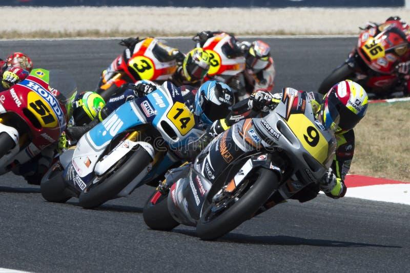 Chaufför Perolari, Corentin Moto2 PROMOTO-sportlag arkivfoto