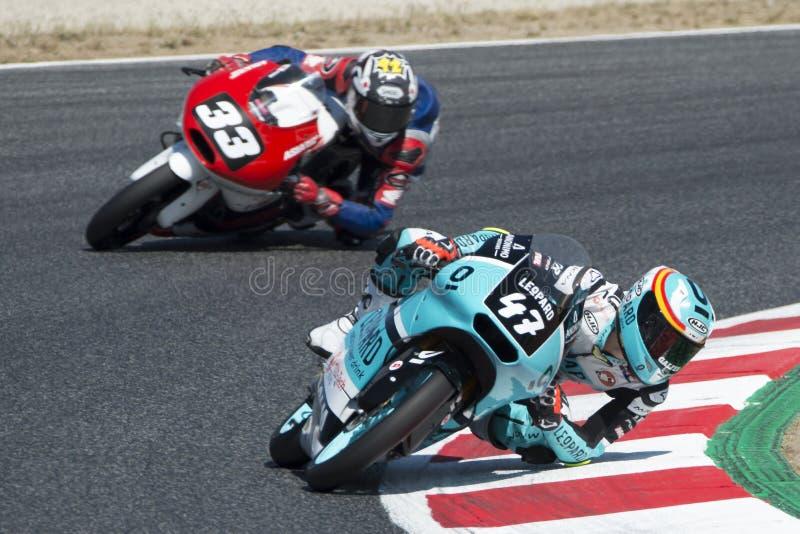 Chaufför Polanco Muñoz, Aaron Moto3 Leopard Junior Team royaltyfria foton
