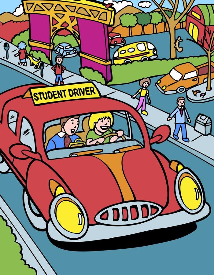 chaufförinstruktördeltagare vektor illustrationer