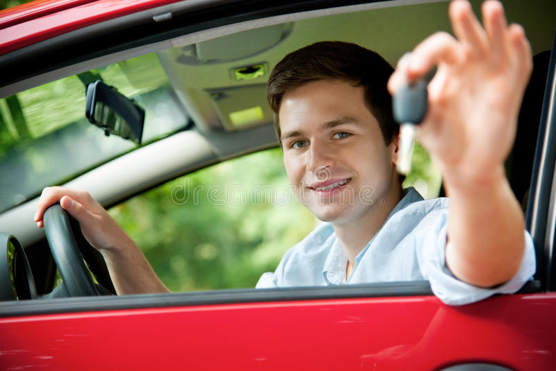 chaufförlicense royaltyfri foto