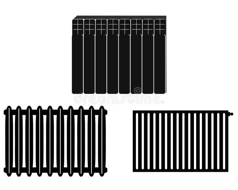 chauffage de batteries illustration de vecteur illustration du isolement 59706880. Black Bedroom Furniture Sets. Home Design Ideas