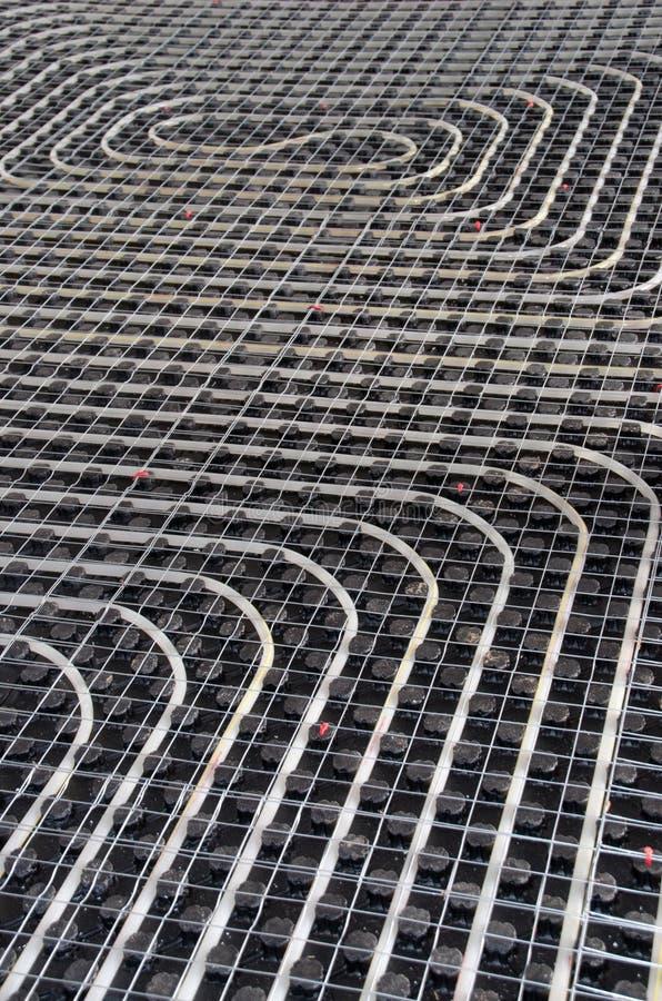 Chauffage par le sol noir photographie stock libre de droits