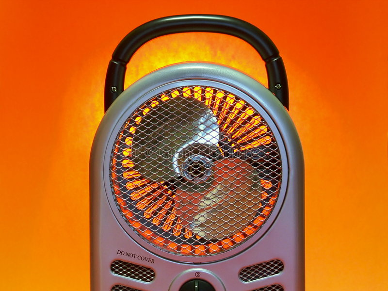 Chaufferette de ventilateur portative images stock