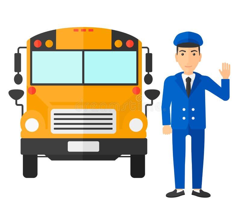 Chauffeur d'autobus scolaire illustration libre de droits