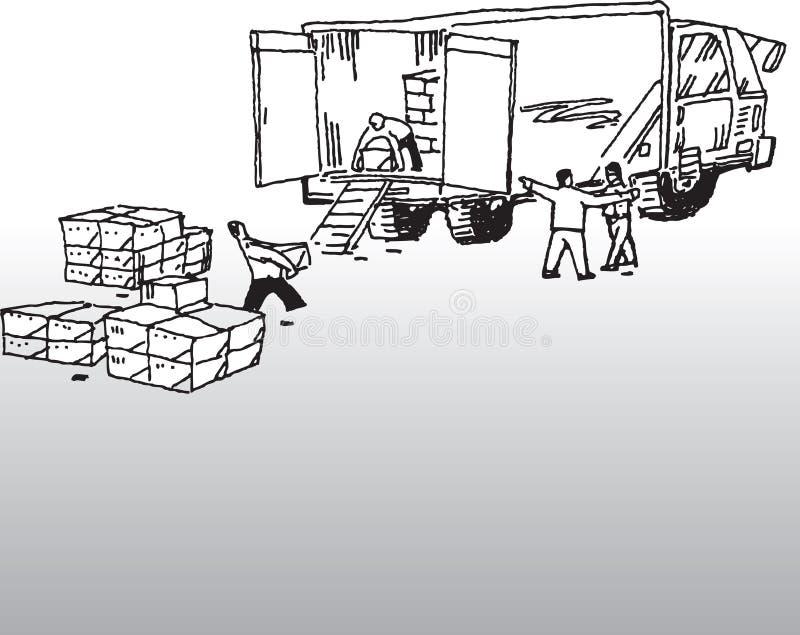 Chauffeur de camion illustration libre de droits