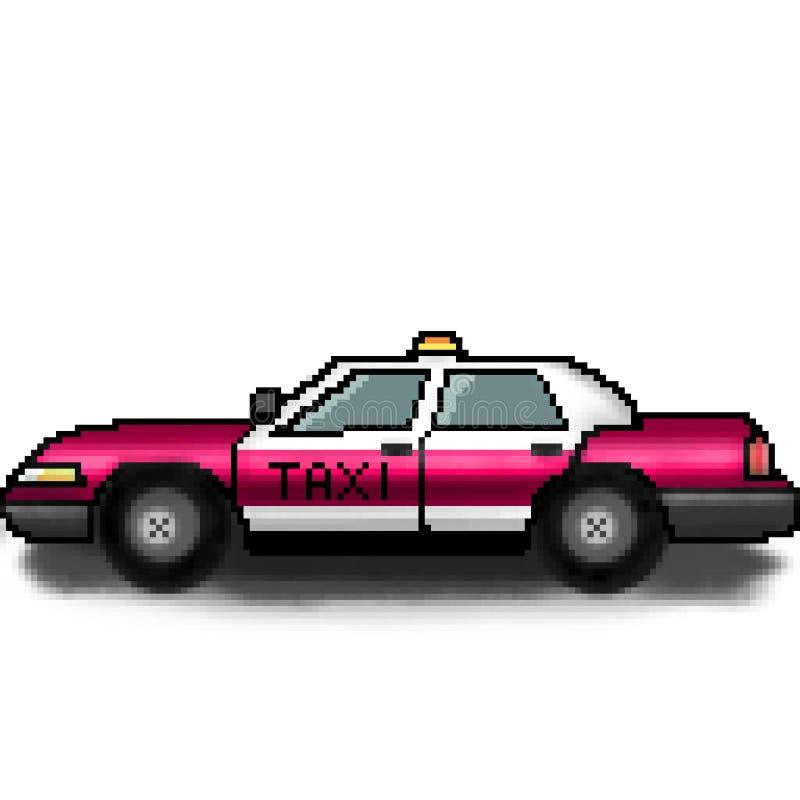 Chauffeur de taxi tiré de bit du pixel 8 pour la location illustration stock