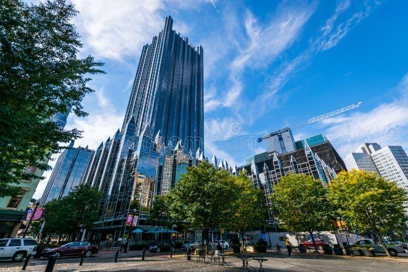 Chauffez le jour nuageux à Pittsburgh du centre, Pennsylvanie photo stock