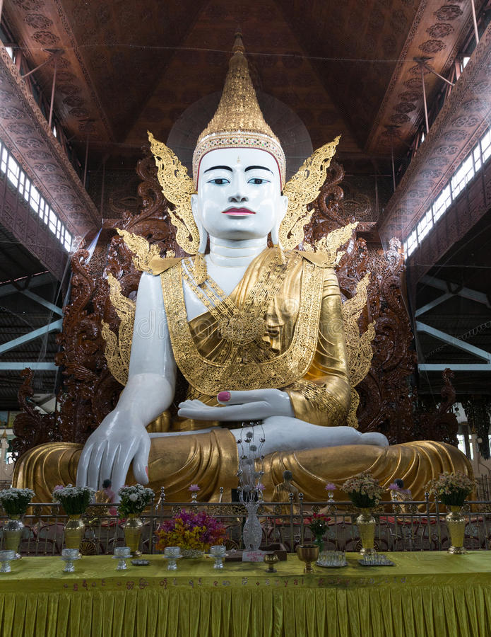 Chaukhtatgyi Paya & Ngahtatgyi Paya punkt zwrotny Yangon miasto obrazy royalty free