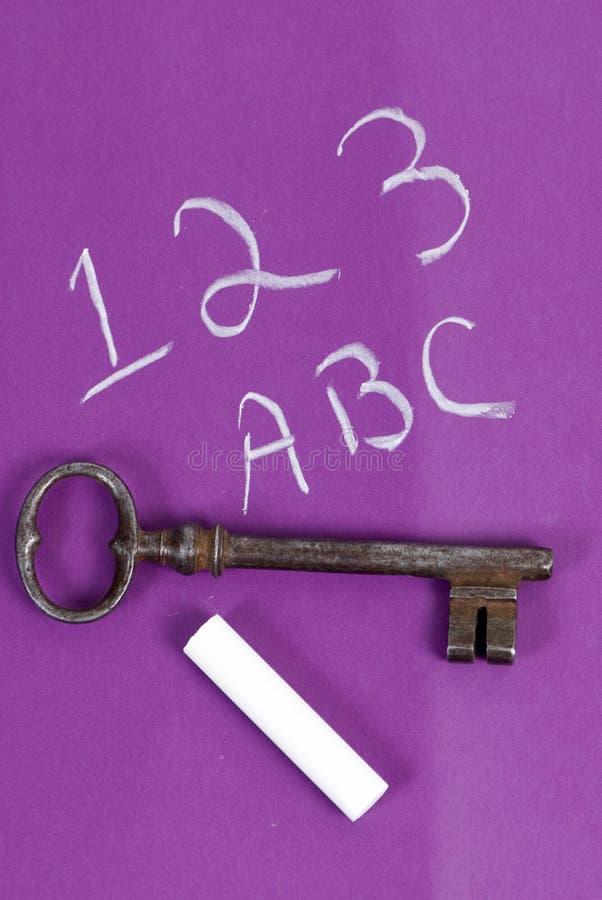 chaulk klucz zdjęcia stock