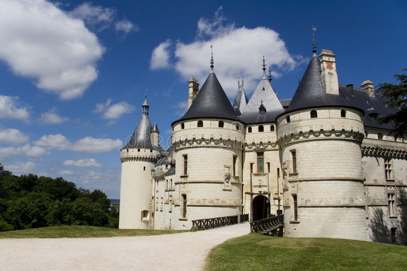 Chaumont. Chateau Chambord in the Loire Valley in France royalty free stock photography