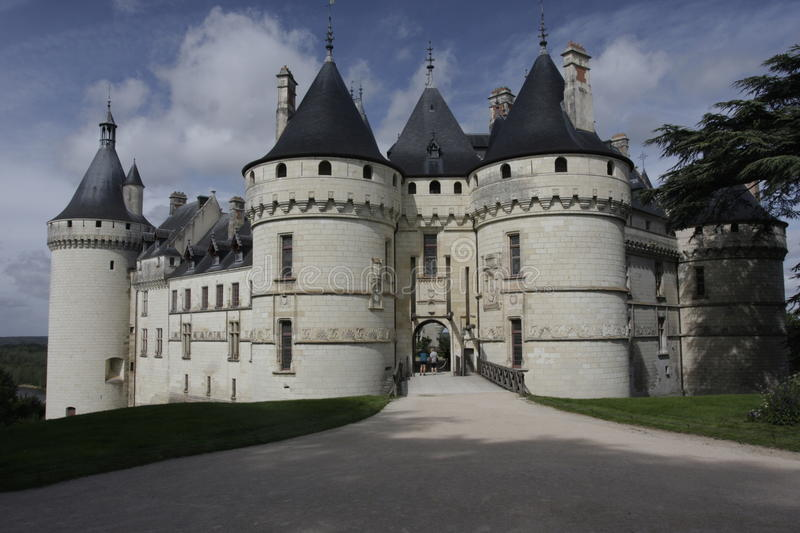 Chaumont Castel frontview. Loire Valley. The Château de Chaumont (or Château de Chaumont-sur-Loire) is a castle in Chaumont-sur-Loire, Loir-et-Cher, France royalty free stock image