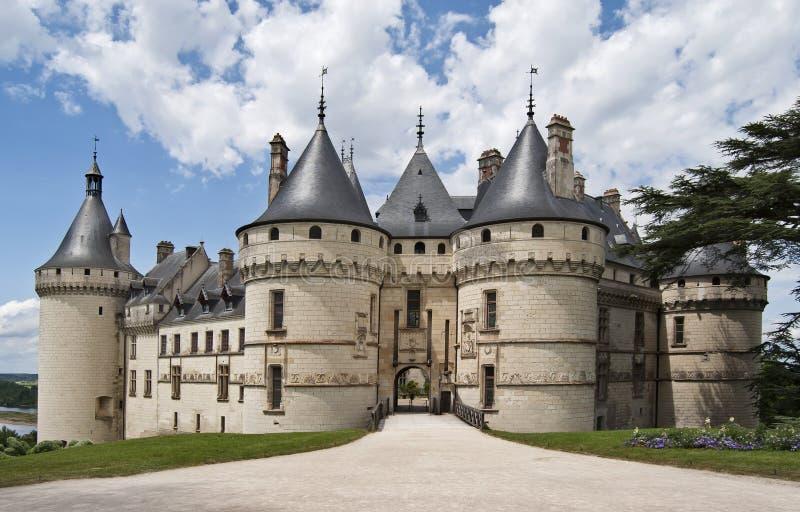 Chaumont castle. The royal chateau de Chaumont, Loire valley, France stock image