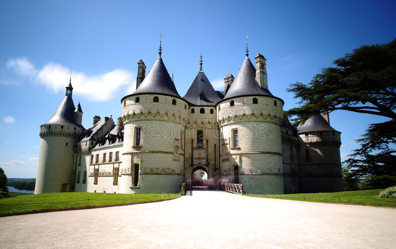 Chaumont castle in Loire Valley, France stock photo