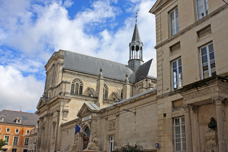 Chaumont College. Chapel from the street royalty free stock photo