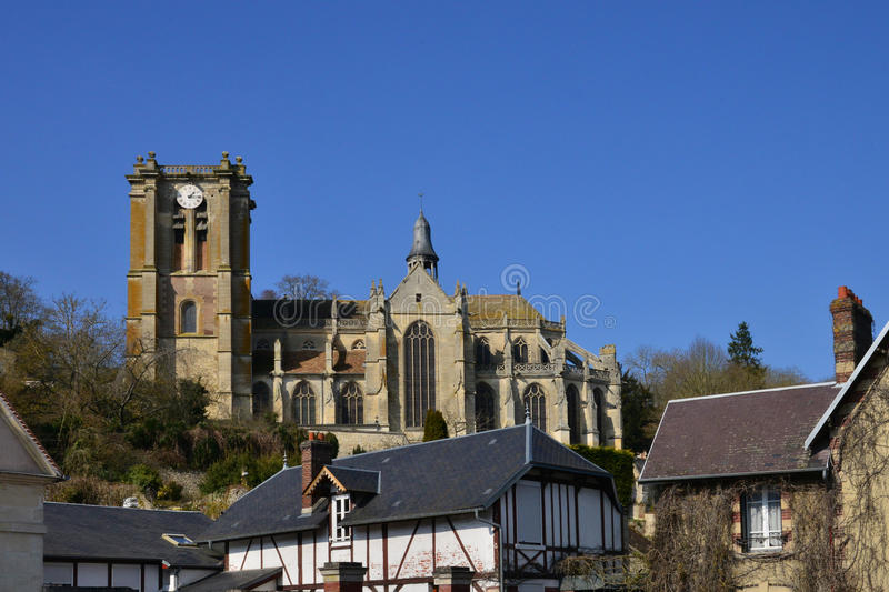 Chaumont en Vexin, France - march 14 2016 : church. Chaumont en Vexin, France - march 14 2016 : the renaissance church royalty free stock photography