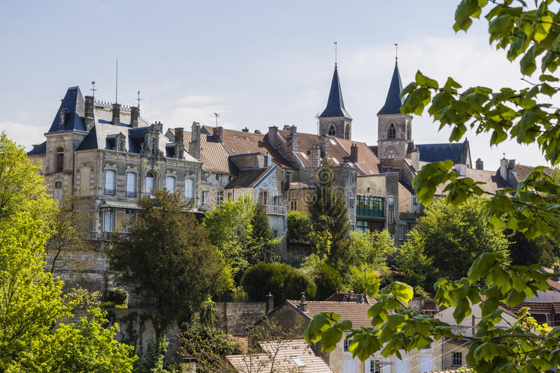 Chaumont, France. Chaumont is a commune of France, and the capital (or préfecture) of the Haute-Marne department. The city stands on the Marne River and is stock image