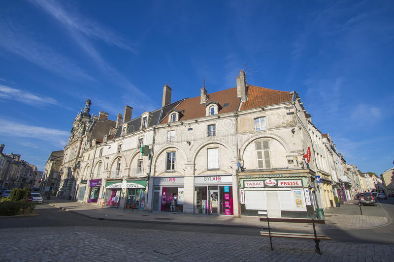 Chaumont, Haute-Marne, France. Chaumont is a commune of France, and the capital (or préfecture) of the Haute-Marne department. As of 2013, it has a population stock photo
