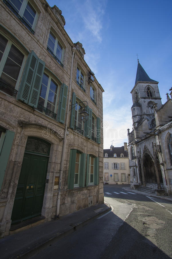 Chaumont, Haute-Marne, France. Chaumont is a commune of France, and the capital (or préfecture) of the Haute-Marne department. As of 2013, it has a population royalty free stock image