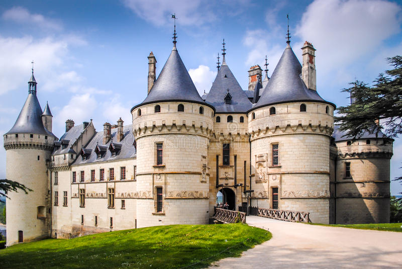 Chaumont on Loire. Castle in France, Europe royalty free stock photography