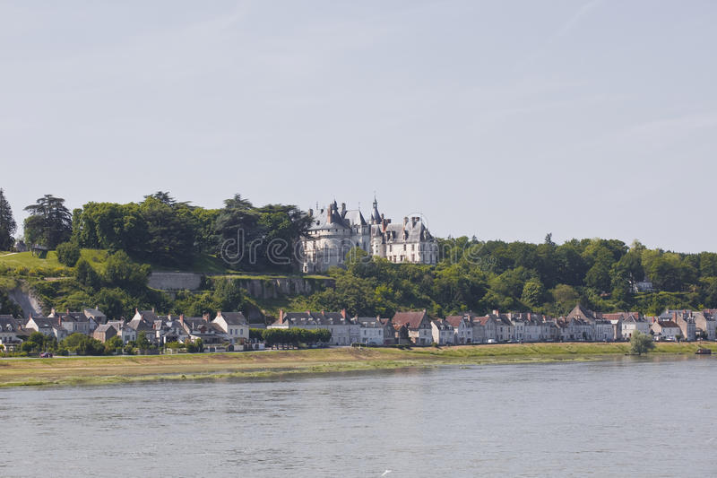 Chaumont sur Loire. The chateau of Chaumont sur Loire overlooking the Loire in France royalty free stock images