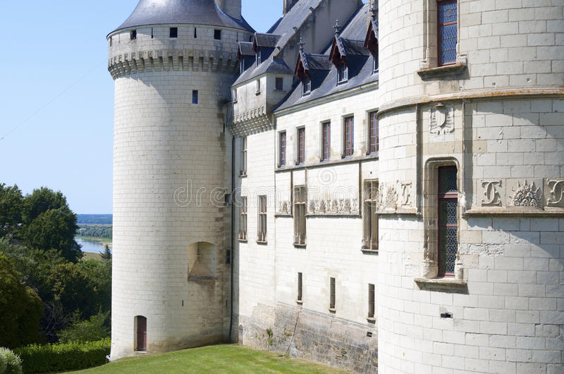 Chaumont Sur Loire. View of the castle of Chaumont Sur Loire, Loire Valley, France. Originally built in the 10th century, has undergone multiple renovations royalty free stock photos