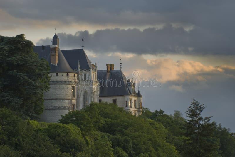 Chaumont-sur-Loire. Castle Chaumont-sur-Loire, view from Loire river. Loire Valley, France royalty free stock photo