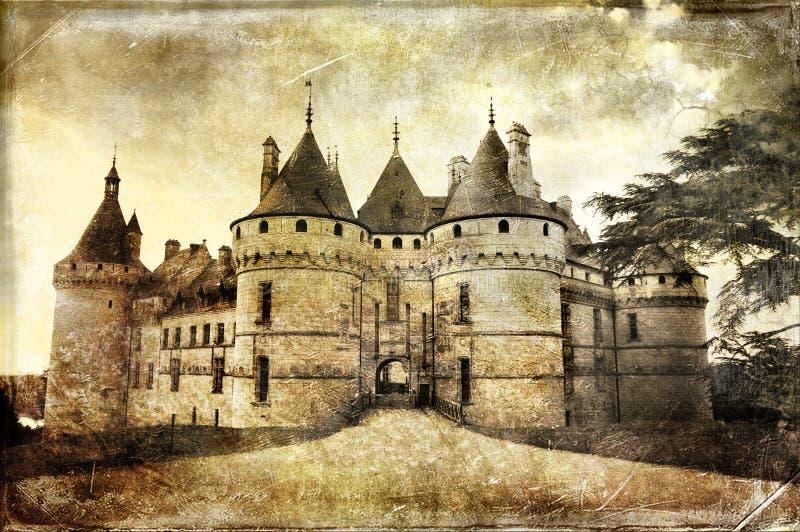 Chaumont-sur-loire. Chaumont castle - picture in vintage style royalty free stock photos