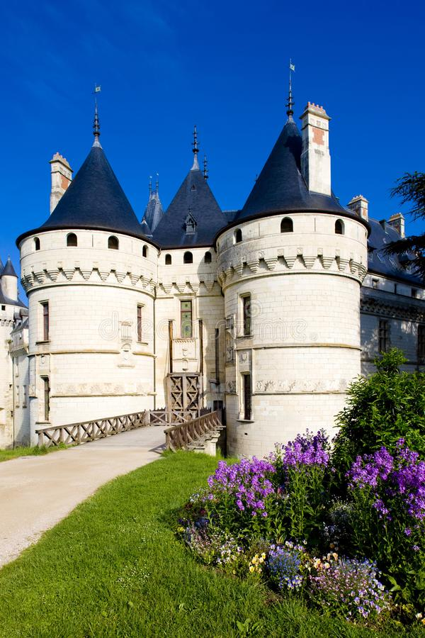 Chaumont-sur-Loire Castle, Centre, France royalty free stock images