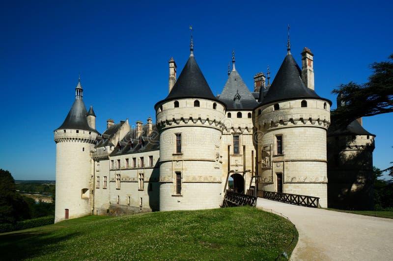 Chaumont-sur-Loire Castle, France. Entrance of Chaumont-sur-Loire Castle, France stock images