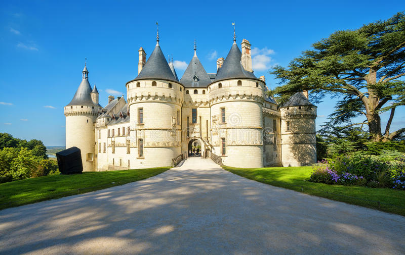 Chaumont-sur-Loire castle, France. This castle is located in the Loire Valley. Landmark of France stock images
