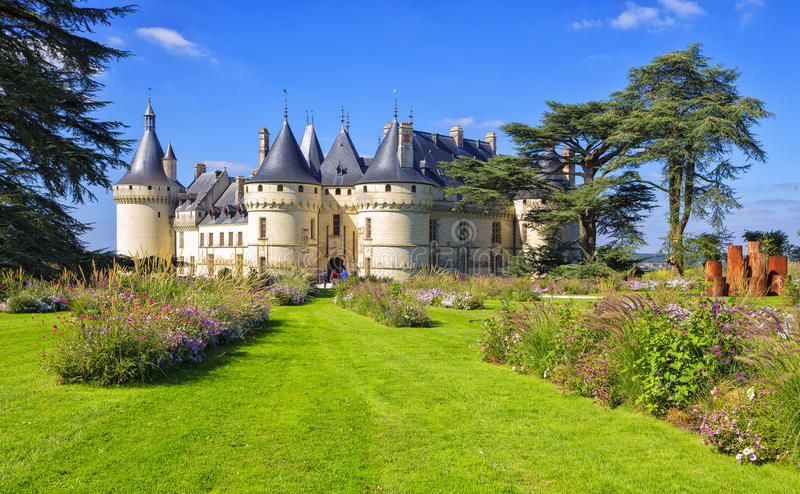 Chaumont-sur-Loire castle, France. This castle is located in the Loire Valley. Landmark of France royalty free stock image