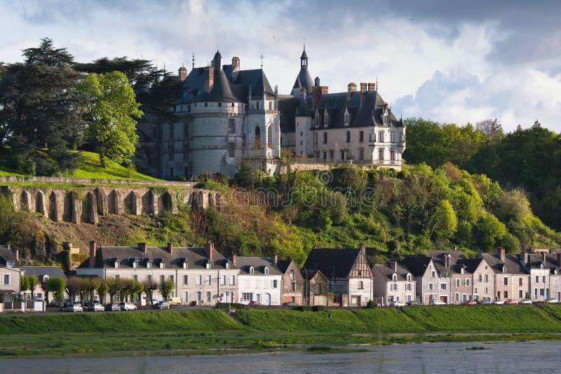 Chaumont sur Loire village and castle. Loir-et-Cher, France royalty free stock photography