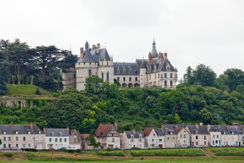 Chaumont-sur-Loirekasteel royalty-vrije stock afbeeldingen