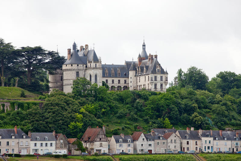 Chaumont-sur-Loirekasteel. royalty-vrije stock foto
