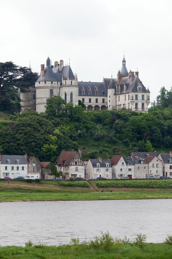 Chaumont-sur-Loirekasteel. royalty-vrije stock afbeeldingen