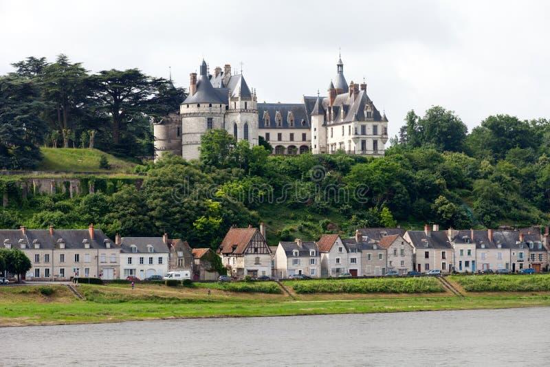 Chaumont-sur-Loirekasteel. stock fotografie