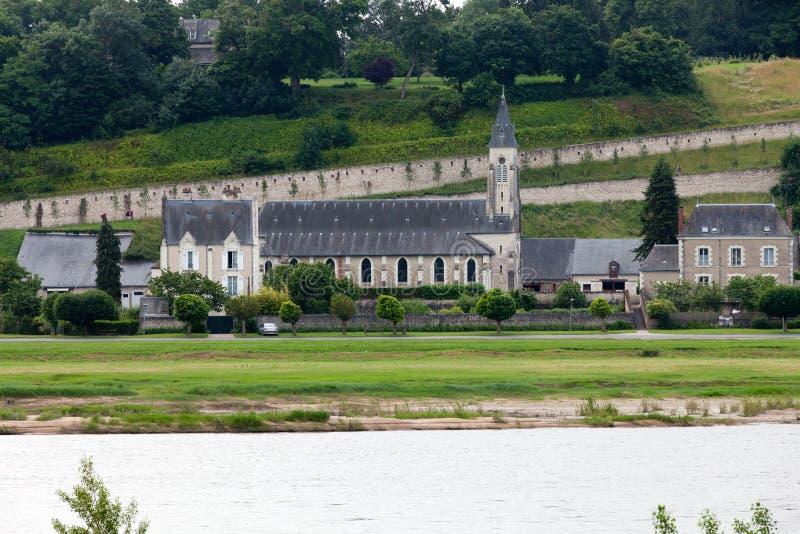 Chaumont-sur-Loirekasteel. stock foto's